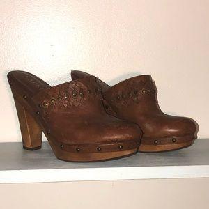 Ralph Lauren Wooden Clog Mules